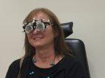 badanie oczu, kobieta
